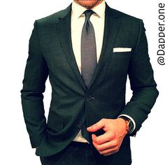 Suit - Green, Grey & White