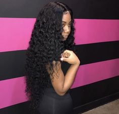 uhair hot selling peruvian virgin hair deep wave 3 bundles with lace closure,factory direct sale 100 human hair extensions (Hair Extensions Care) Curly Hair Styles, Natural Hair Styles, My Hairstyle, Hairstyle Ideas, Bridal Hairstyle, Hair Laid, Black Girls Hairstyles, Gorgeous Hairstyles, Human Hair Extensions