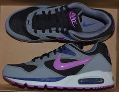 WOMENS NIKE AIR MAX CORRELATE SHOES black purple grey