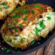 Shrimp & Bacon Alfredo Stuffed Chicken   bakeatmidnite.com