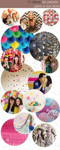 15 ideias de paineis para sua festa