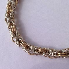 Sterling Silver and Gold Filled Handmade Chainmail Bracelet by Heartfelt Creations