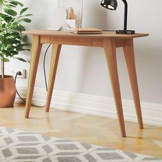 Fjørde & Co Schreibtisch Indio Office Organization At Work, Office Ideas, Solid Wood Desk, Best Desk, Oak Color, Small Drawers, Hazelwood Home, Writing Desk, Office Interiors