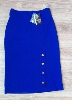 Kup mój przedmiot na #vintedpl http://www.vinted.pl/damska-odziez/spodnice/13544144-nowa-niebieska-elegancka-spodnica-36-primark-ozdobne-guziki