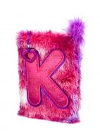 Tie Dye Faux Fur Initial Journal from justice