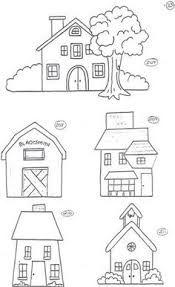 Resultado de imagem para riscos de bordados pequenos de casinhas