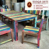 kursi Kafe Rustik Minimalis Kayu Jati Berkualitas - Singa Jati Dining Chairs, Modern, Table, Furniture, Home Decor, Trendy Tree, Decoration Home, Room Decor, Dining Chair