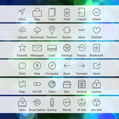 36 IOS 7 Tab Bar Icons Pack PSD - http://www.dawnbrushes.com/36-ios-7-tab-bar-icons-pack-psd/