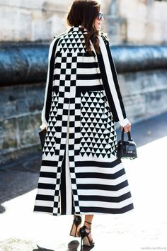 Amazing black and white coat