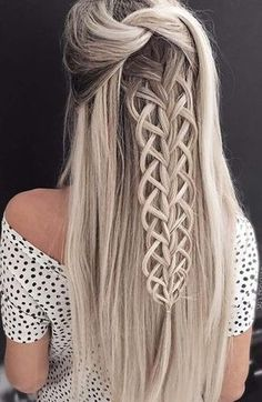 intricate braid half up hairstyle