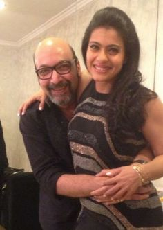 Kajol snapped with Mickey Contractor