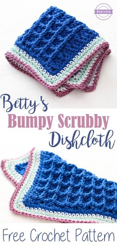 Betty's Bumpy Scrubby Dishcloth | Free Crochet Pattern from Sewrella