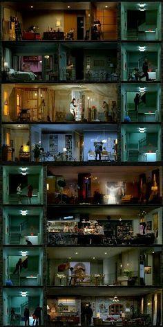 Looking through windows. artistic voyeurism on HBO Bühnen Design, Buch Design, Cinematic Photography, Street Photography, Photography Magazine, Photography Names, Photography Ideas, Film Inspiration, City Aesthetic