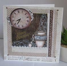 Geburtstagskarte Guter Kaffee, handgemacht von KartengalerieDoris auf Etsy Lettering, Etsy, Simple, Frame, Paper, Handmade Birthday Cards, Worth It, Homemade, Picture Frame