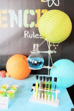 Science Party Ideas - DIY Paper Lantern Molecule Decor