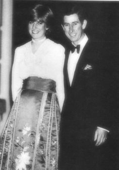 February 24, 1981: Prince Charles & Lady Diana at Clarence house on the night of the announcement of their engagement.