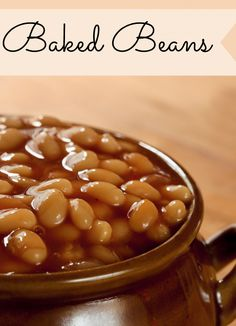 """This Baked Beans recipe has been in my family since the I'm sharing it today, from my great-grandmother's handwritten recipe book. She says, """"Baked Beans – as my Mother Made Them. Crock Pot Recipes, Baked Bean Recipes, Crock Pot Cooking, Slow Cooker Recipes, Beans Recipes, Southern Baked Beans, Boston Baked Beans, Baked Beans Recipe Pressure Cooker, Pressure Cooking"""