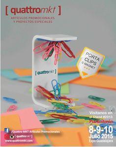 Artículos para la oficina personalizados... ¡Acompáñanos este 8, 9 y 10 de Junio en Expo Guadalajara! Síguenos en nuestras redes sociales:... instagram: https://instagram.com/quattromkt/ Pinterest: https://es.pinterest.com/quattromkt/