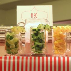 Water Drink Bar: Great for a spa party or baby shower.