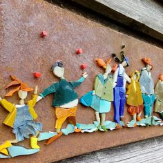 #mosaïque #pâtedeverre #métalrouillé #michellecombeau #pièceunique #handcraft #balade