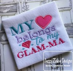 Glam-Ma Applique by www.jazzyzebra.com. Free design for Gold Members of The Appliqué Circle  for the month of October 2016 at www.theaplliquecircle.com.