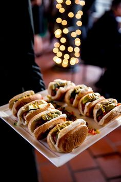 Sliders make for awesome, easy, and laid-back appetizers.