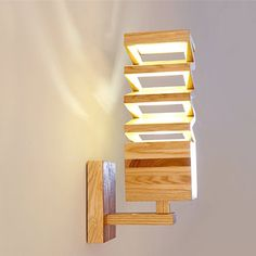 Arturest Wooden Natural Color Wall Lamp, Home Decoration Wooden Lighting, Night Light for Bedroom Handmade Lamps, Handmade Home Decor, Best Desk Lamp, Room Lamp, Unique Lamps, Shabby Chic Furniture, Wabi Sabi, Wall Colors, Retro