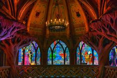 Something I have always wanted to do but haven't yet, is walk through Sleeping Beauty's castle in Disneyland to see all the beautiful stained glass. It isn't on the map, but it's open and I've heard it's a nice quiet place in the park to retreat to
