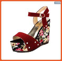 eaa5b6050acf6c Gaorui Summer Women s Sandals Plateau   Wedges Wedges Flowers Modern patent  leather - Sandals for women