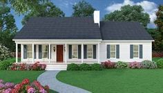 image of Sutherlin Small Ranch House Plan