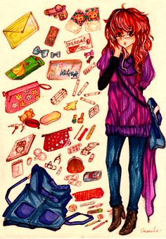 What's in my bag by =verocrafts on deviantART