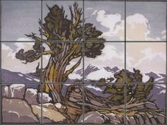 Guardian of the Timberline Tile Mural | Pacifica Tile Art Studio