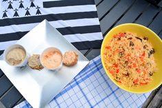 tartines rillettes poissons guyader taboule maison