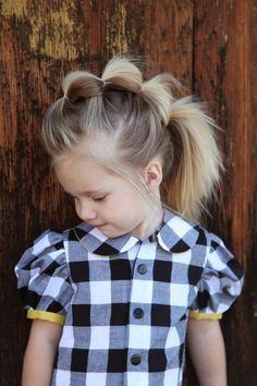 peinado para niñas con sujetadores