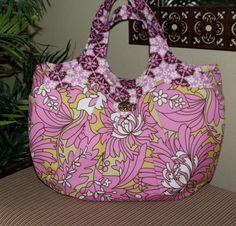 Semper Fun Cosmo Bag   Amy Butler's Daisy by SemperFabDesigns, $60.00