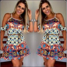 $24.00 | Fashionable women print dress KMS14DB