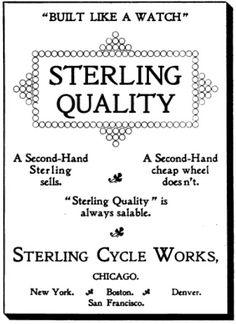 aviso de Stgerling ,bicicleta con la que completó su viaje