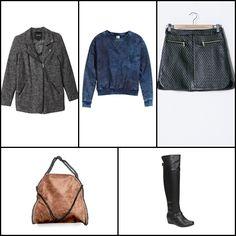 Lena biker jacket @monkiworld ~~ Sweatshirt denim @hm ~~ Skirt #queguapa ~~ Bag #ILEVAHC ~~ Tasha falttering knee high boot @aldoshoes