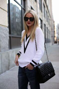 Blair Eadie in Rag & Bone Talia Sweater - DIANI Blog