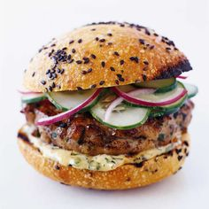 Thai Tuna Burgers with Ginger-Lemon Mayonnaise // More Amazing Burgers: http://www.foodandwine.com/recipes/thai-tuna-burgers-with-ginger-lemon-mayonnaise #foodandwine