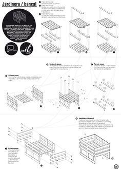 Plans pour confectionner des meubles pour jardin avec des palettes ...