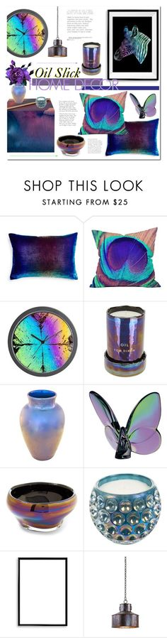 """Oil Slick Home Decor"" by alexandrazeres ❤ liked on Polyvore featuring interior, interiors, interior design, home, home decor, interior decorating, Kevin O'Brien, WALL, Tom Dixon and Baccarat"
