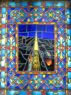 Chicago Temple Stained Glass by Atelier Teee,