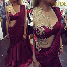 Homecoming bride by ibridebyindi #INDI Sri Lankan fashion