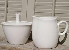 Mid Century Franciscan White Stoneware Cream by BeachLaneVintage, $14.00