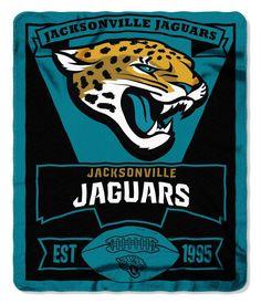 Jacksonville Jaguars Blanket 50x60 Fleece Marque Design