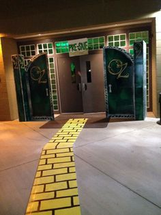 Wizard Of Oz Halloween - Could create a cardboard (or Duck Tape) brick road to roll out leading up to the pavilion or to the porta-potties (ha!)
