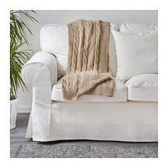 IKEA - URSULA, Throw, beige,