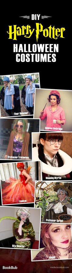 Check out our list of DIY Halloween costumes ideas for Harry Potter fans. These creative and sometimes scary costumes are great for teens, for couples, for adults, and for kids. #Costumes #diyhalloweencostumes