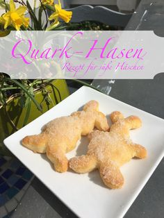 Quark rabbits- Quark Hasen Such a delicious recipe. With this quark oil dough recipe … - Gourmet Recipes, Cake Recipes, Gourmet Foods, Delicious Desserts, Yummy Food, Cream Cheese Spreads, Natural Yogurt, Winter Desserts, Rabbit Food